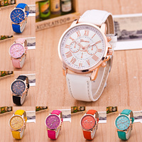 Fashion Women's Analog Watch lady luxury PU Leather Band all type of wrist watch display