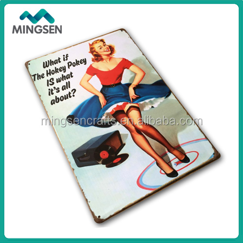 Wall metal tin signs decoration