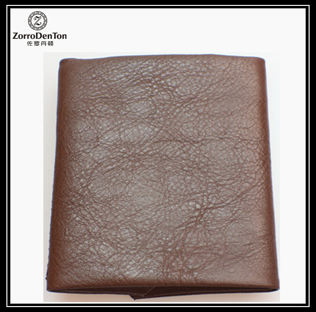Hot selling 2017 amazon soft vegetable tanned leather hides young man wallet