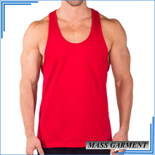 High Quality Men's Plain Blank Tank Top Gym Stringer Y Back Tank Top