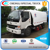 shock price 1500 liters water tank and 4000 liters garbage tank dongfeng 4*2 right hand driving small vacuum sweeper