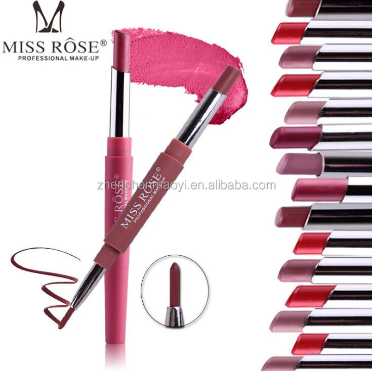 New Arrival High Quality Miss Rose Matt Lipstick 2 IN <strong>1</strong> Lip Liner + Lipstick