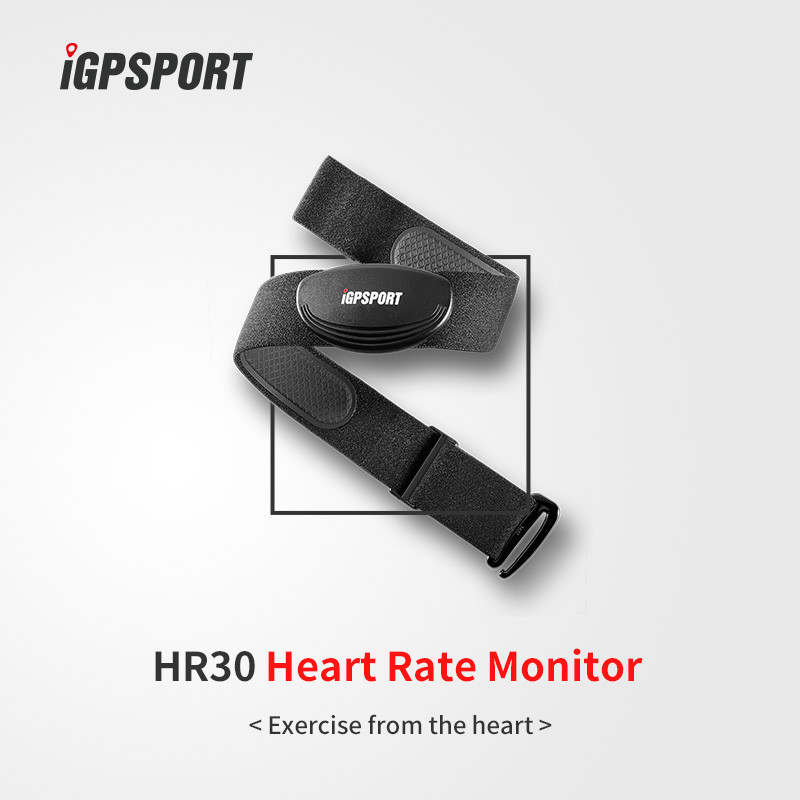 High grade fabric chest strap iGPSPORT HR30 heart rate monitor
