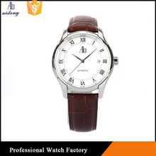 Automatic Skeleton Mechanical Mens Vintage Japan Movt Stainless Steel Classical Nato Band Couple Watch