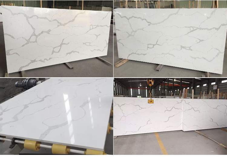 Chinese Raw Kitchen Countertops Quartz Engineering Stone Price