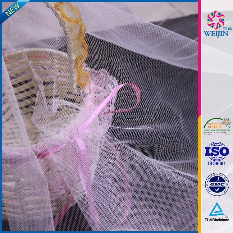 High-quality White Net 100% Soft Polyester Tulle Fabrics