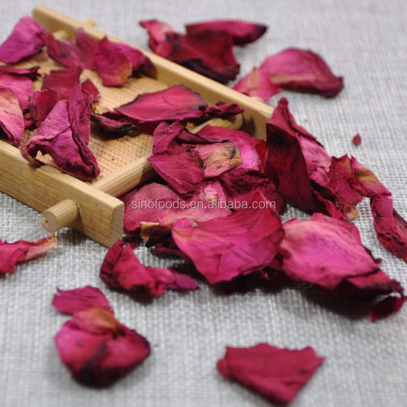 Dry Red Rose Petal And Flower And Buds