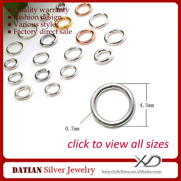 XD P05107 0.7x4.5mm 925 Silver Jump Rings to Make DIY Jewelry
