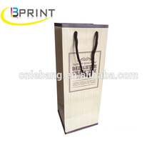 China factory custom design wine bottle paper bag wine gift bag with logo