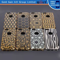 Luxury gilding pc cover case for iPhone 6 back cover with crystal box packing, hard pc case for iPhone 6 with special design