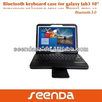 Durable PU leather keyboard case for samsung TAB3 10 tablet pc cover