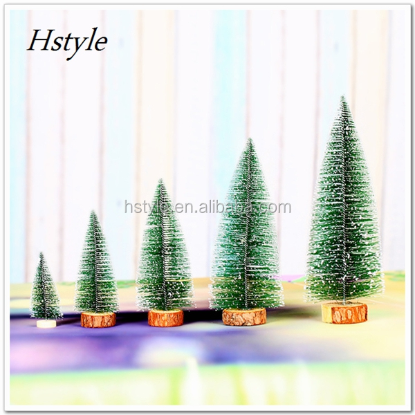 "2017 New Christmas Tree 15cm/20cm (5.91""/7.84) Xmas Pine Needles Flocking Mini Tree For Outdoor Party Ornament Supplies SSD178"