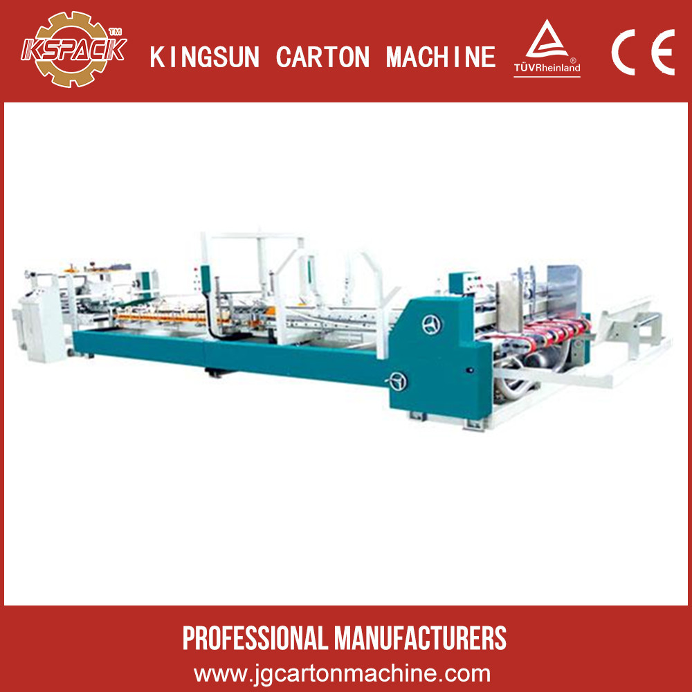 automatic carton folding and gluing machine , automatic cardboard folder gluer