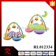 Best selling soft plush baby play mat with music