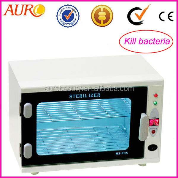 Dual Cabinet Hot Tool Warmer Disinfection UV Sterilizer Machine Home spa AU-208