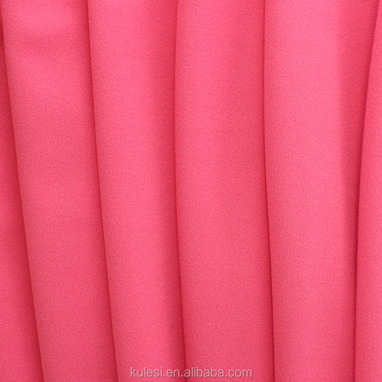 China suppliers polyester spandex 75D DTY knitted twisting habijabi fabric 250GSM good drooping for garment