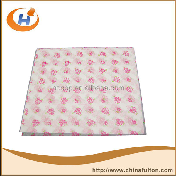 wholesale printed double sides dry wax coated wax food paper for meat wrapping