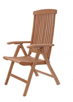 Natural solid wood folding chair