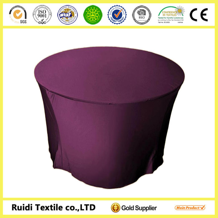 100% Polyester Custom spandex table cover for banquet and wedding decoration