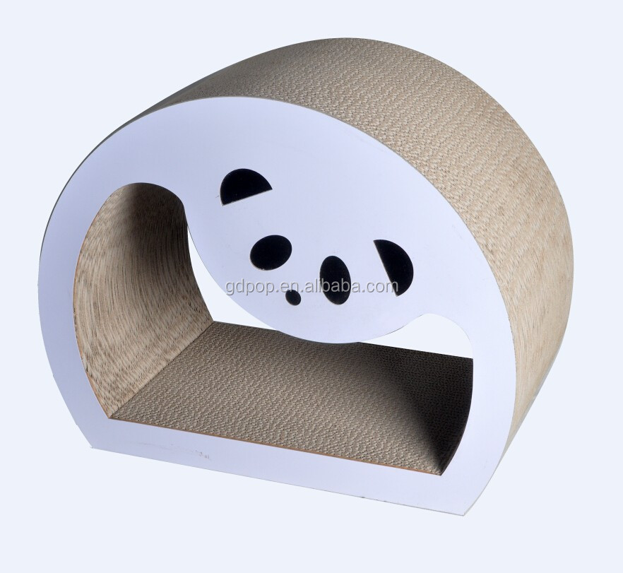 Lovely design Panda corrugated cat bed cat scratcher