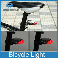 Solar energy rechargeable bicycle tail light led solar tail light Mini bike rear light