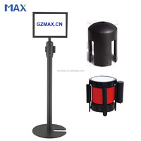 retractable belt metal line queue sign stanchions