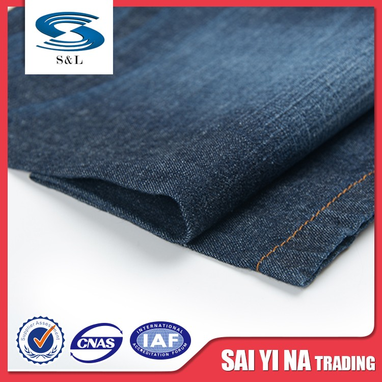 Super denim fabric twill 100% cotton stretch fabric for jean