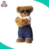 Factory custom plush toy teddy bear with movable arms and legs wholesale