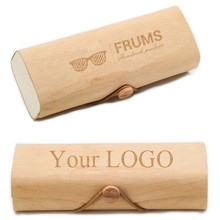 [wholesale] ZL110 Custom Your Logo Eyewear Birch Wood Sunglasses Case