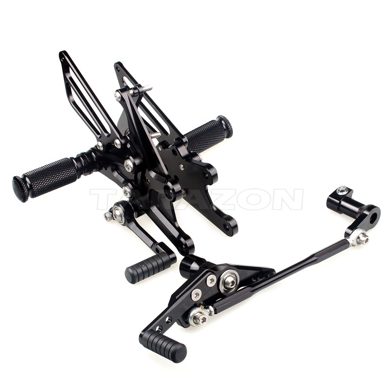 CNC billet CNC Adjustable Motorcycle Rearset Footpeg Rear Set For CBR1000RR