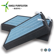 standard Chinese cabin air filter with charcoal and correct air flow direction