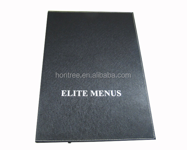 colored leather menu design restaurant led fluorescent light diffuser cover