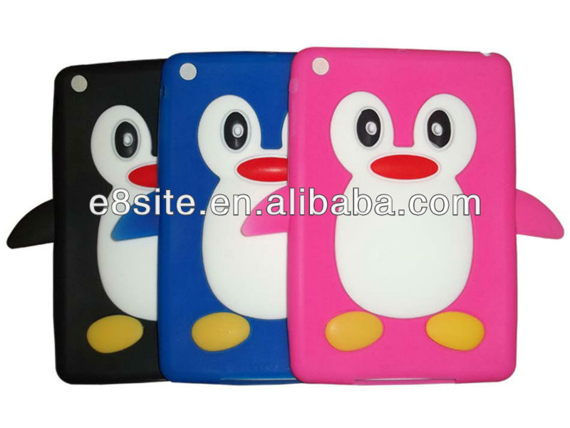 Penguin Silicone Case For iPad Mini
