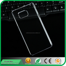 wholesale transparent clear plastic hard back cover phone case for samsung galaxy note5