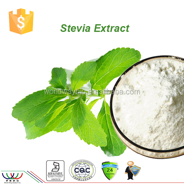 World-Way 2017 best selling sweetener free sample China sweetener stevia reb a 98% stevia extract in bulk
