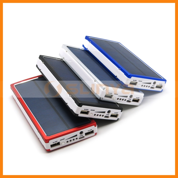 20000mah Solar Power Bank Solar Panel Mobile Phone Battery External Battery Charger