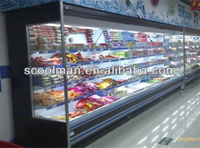 Vertical Chiller/Supermarket Open Front Refrigerator with Air Curtain
