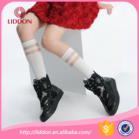 Wholesale American youth football dress soccer socks OEM summer thin breathable kids girl mid calf socks