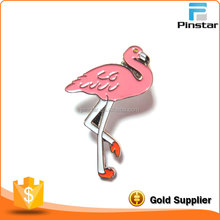 Stock Mould High Quality Flamingo Bird Soft Enamel Badge Pin