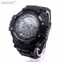Professional UV Altitude Temperature Monitoring Silicone Digital LED Outdoor Wrist Watch