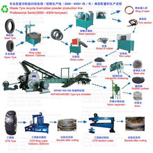Energy saving used rubber milling machine / rubber tire grinding machine