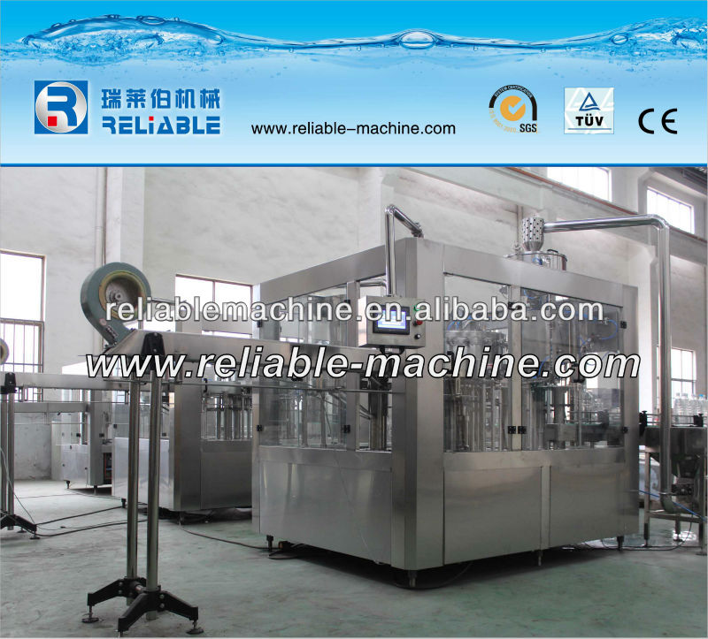 3 In 1 Glass Bottled Soda/Sparkling Water Filling Machine With Special Design