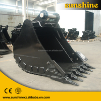 Heavy equipment spare parts excavator standard bucket digging rock and stone