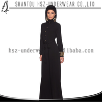 MD Z003 Latest design high quality lady black turkey abaya islamic prayer clothing muslim styles of dresses dubai abaya