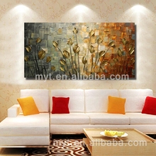 100% Handmade Artwork Tree Oil Painting handmade Decoration Lighted Canvas Pictures