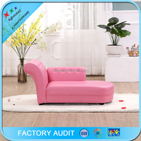 Hot Sale Luxury Pink Chaise Lounge Two Seat Sofa