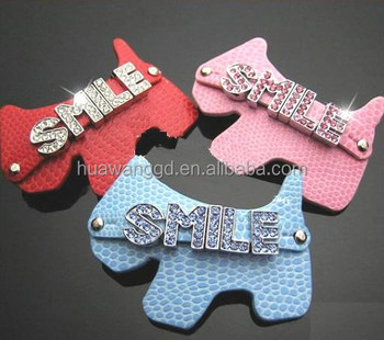 Hot selling lovely dog's diy letter hairclip