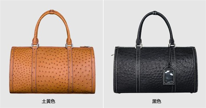 Customize exquisite perfect looking luxury ostrich leather travel duffle bag_7