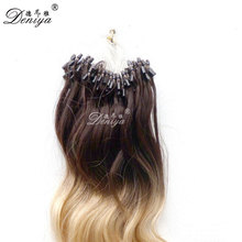 Fast shipping! 20inch ombre wave brazilian micro ring loop hair extensions