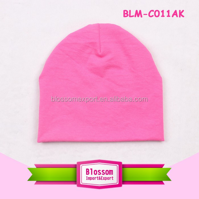 Wholesale solid color baby hat baby soft cotton newborn baby beanie hat